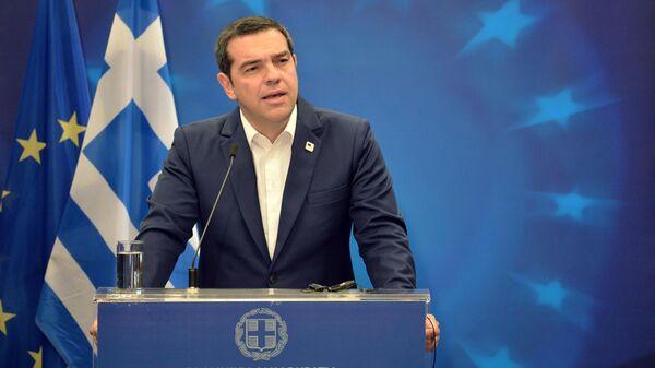 Премьер-министр Греции Алексис Ципрас на саммите ЕС в Брюсселе. 21 июня 2019
