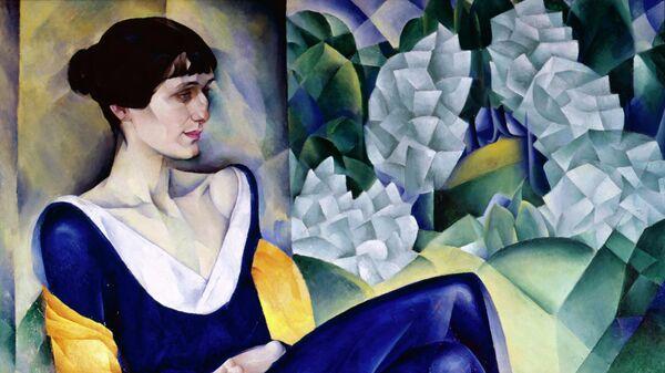 Картина советского художника и графика Натана Исаевича Альтмана Портрет Анны Ахматовой. 1914