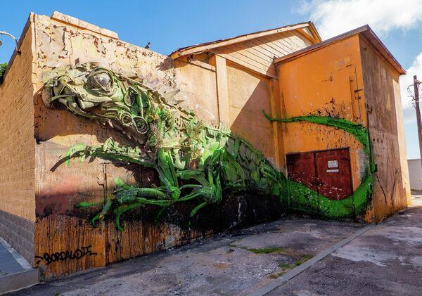 Объемное граффити Артура Бордало