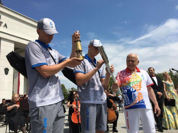 Перед началом II Европейских игр по всей Белоруссии прошла эстафета Пламя мира