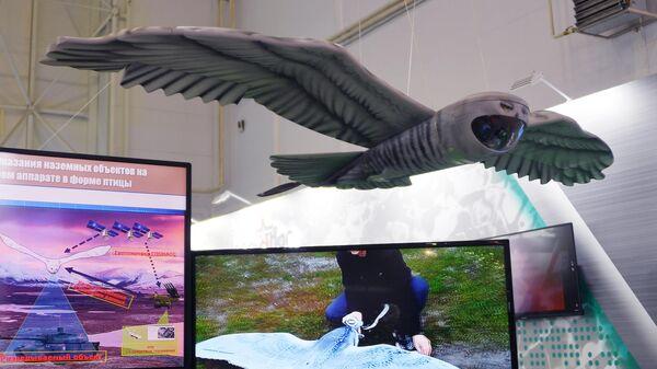 Комплекс разведки и целеуказания наземных объектов на беспилотном летательном аппарате в форме птицы на Международном военно-техническом форуме Армия-2019
