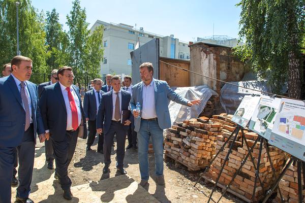 Участники заседания осмотрели объекты реставрации в создаваемом Музейном квартале Тулы