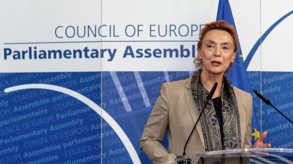 Новый генеральный секретарь Совета Европы вице-премьер, министр иностранных и европейских дел Хорватии Мария Пейчинович-Бурич