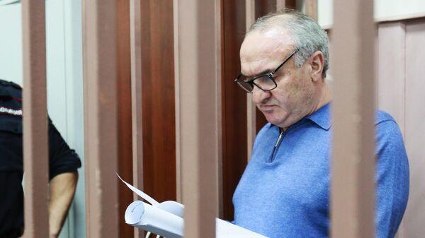 Советник генерального директора Газпром межрегионгаз Рауль Арашуков, обвиняемый в мошенничестве и создании преступного сообщества, в Басманном суде города Москвы. 27 июня 2019