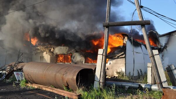 Пожар в ТК Планета в Рыбинском районе Красноярского края
