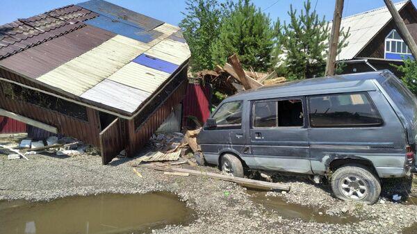 Последствия паводка в Тулунском районе Иркутской области