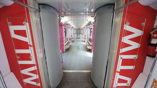 Запуск тематического поезда, посвященного МЦД