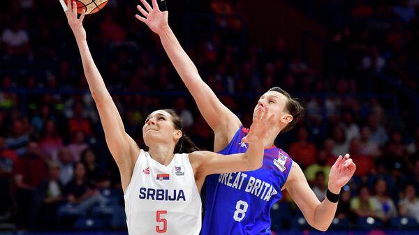 Игровой момент матча Сербия - Великобритания