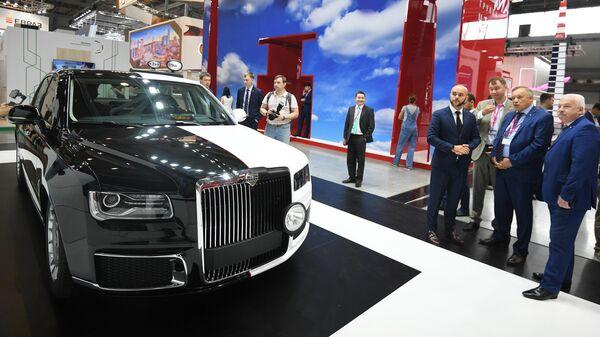 Автомобиль Aurus на международной промышленной выставке ИННОПРОМ-2019 в Екатеринбурге