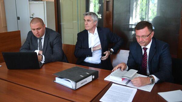 Основатель фонда Baring Vostok Майкл Калви на заседании Басманного суда Москвы