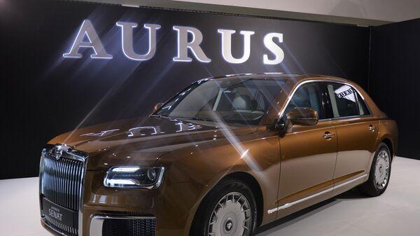 Автомобиль Aurus Senat на международной промышленной выставке ИННОПРОМ-2019