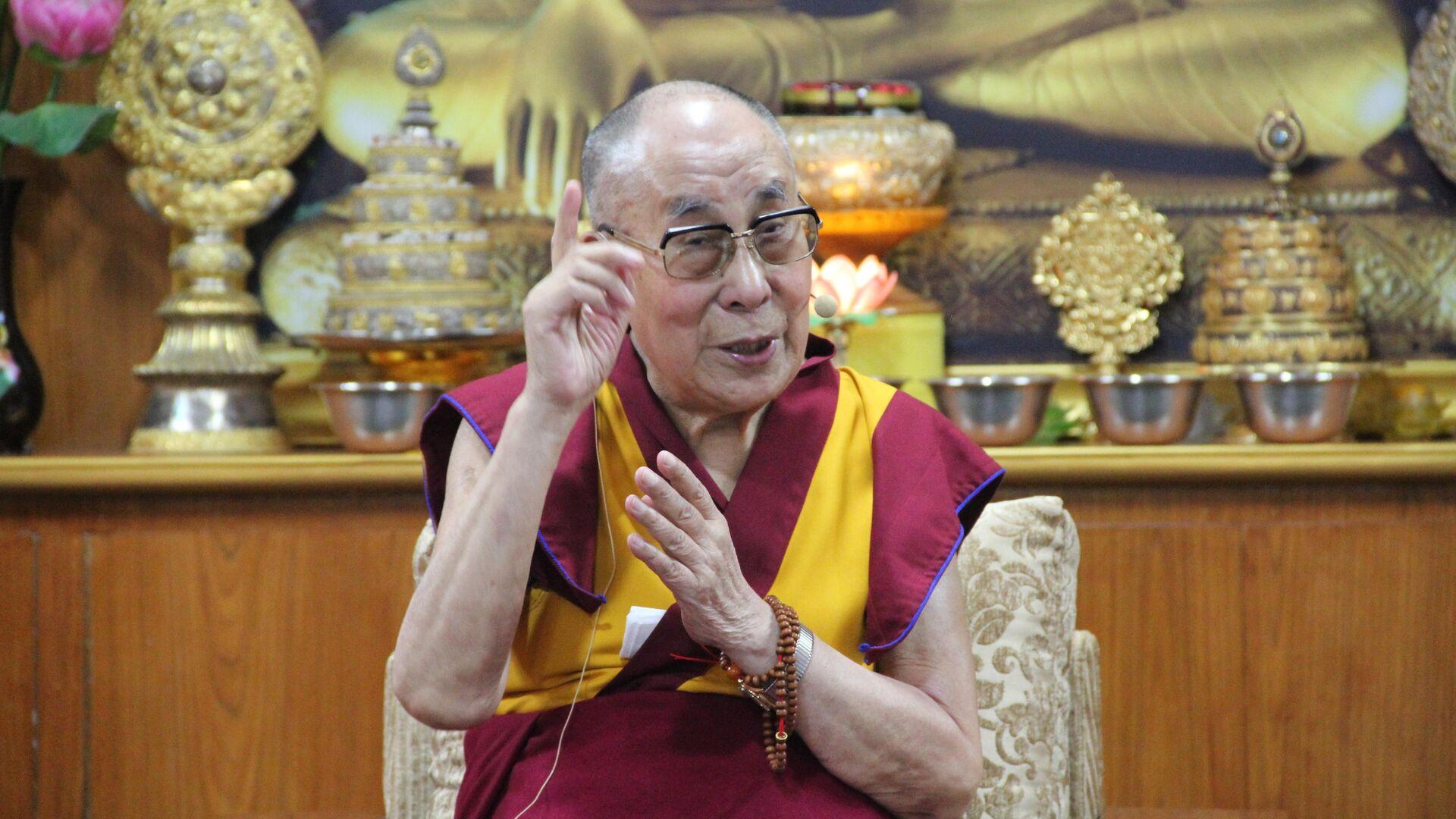 Далай-лама на Международной конференции Образование человека в 3-м тысячелетии с философами образования и педагогами в его резиденции в Дхарамсале - РИА Новости, 1920, 29.03.2021
