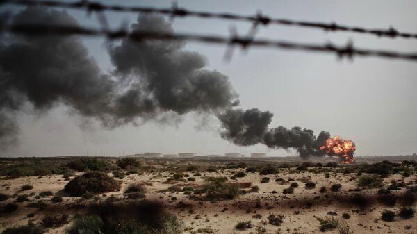 Сжигание отходов нефтяного производства в городе Бреге