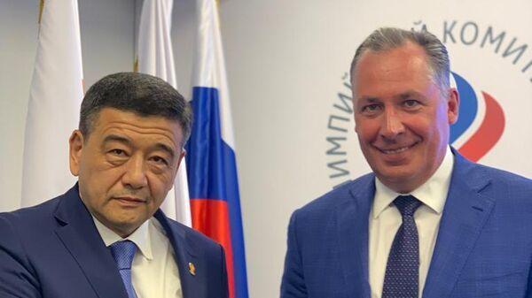 Президент Олимпийского комитета России (ОКР) Станислав Поздняков на встрече с главой НОК Узбекистана Рустамом Шаабдурахмоновым