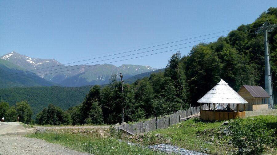 Вид на горы и хутор