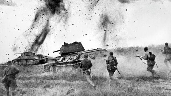 Курская дуга. Атака соединений 5 Гвардейской танковой армии в районе Прохоровки