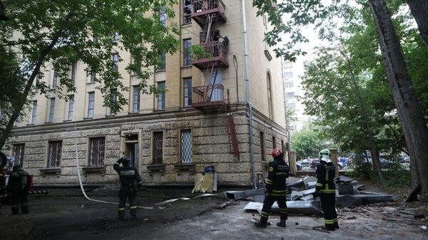 Последствия пожара в Российском архиве литературы и искусства. 12 июля 2019