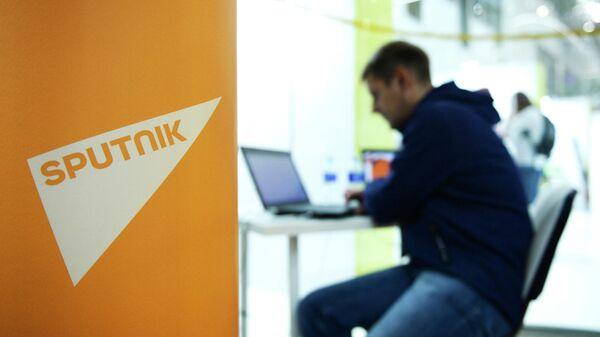 Логотип международного информационного агентства и радио Sputnik