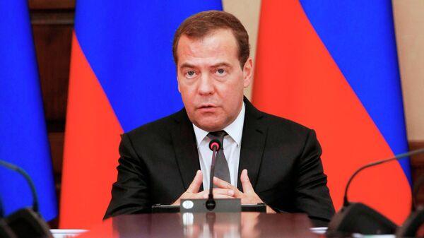 Председатель правительства РФ Дмитрий Медведев проводит совещание в Ставрополе. 12 июля 2019
