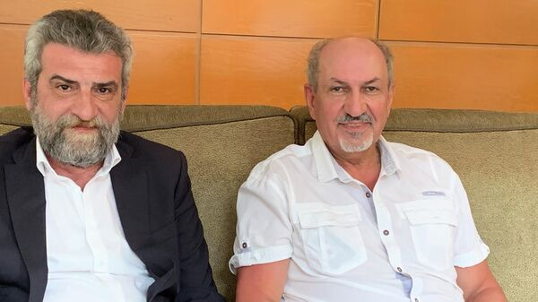 Президент Фонда снижения природных и экологических рисков Герман Лалаян и генеральный директор Международного центра глобального мониторинга и прогноза сейсмической погоды Самвел Акопян
