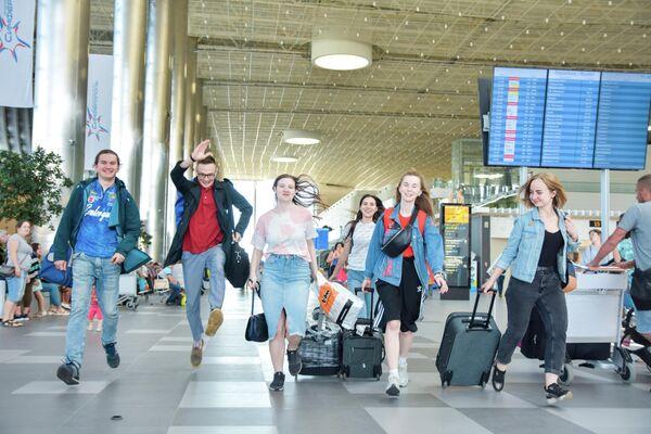 Приезд участников форума в аэропорт