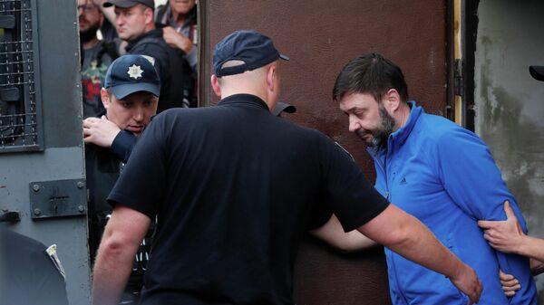 Кирилл Вышинский после заседания суда в Киеве. 15 июля 2019