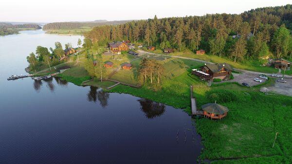 Турбаза Ламберг на берегу Ладожского озера в городе Сортавала в Карелии