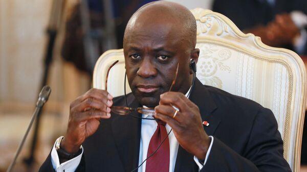 Министр иностранных дел Республики Кот -д'Ивуар Марсель Амон-Тано во время встречи с министром иностранных дел РФ Сергеем Лавровым в Доме приемов МИД России