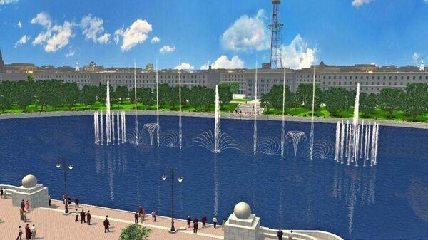 Сбербанк показал, как будет выглядеть подаренный им белорусской столице мультимедийный светомузыкальный фонтан