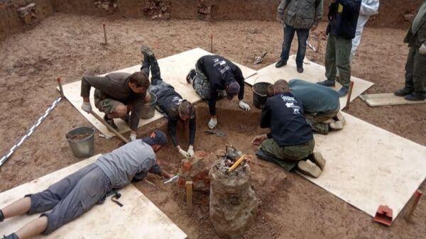 Ученые ведут раскопки в одиночной могиле, где предположительно захоронен генерал Гюден