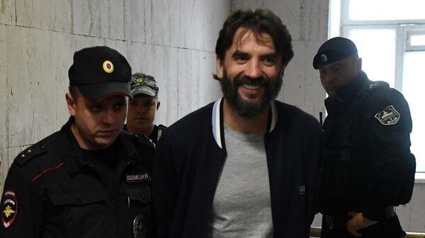Бывший министр РФ по связям с Открытым правительством Михаил Абызов в Басманном суде Москвы. 22 июля 2019
