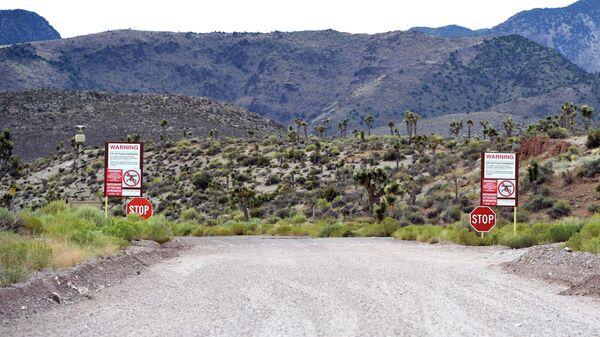 Граница военной базы Зона 51 в США