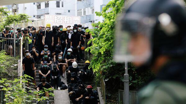 Протесты на севере Гонконга