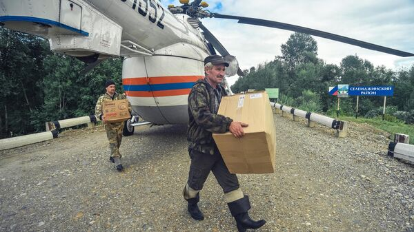 Доставка гуманитарной помощи в пострадавшие от наводнения населенные пункты Селемджинского района Амурской области
