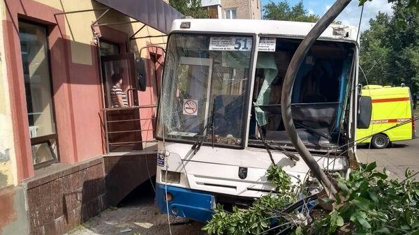 ДТП с участием автобуса в Уфе