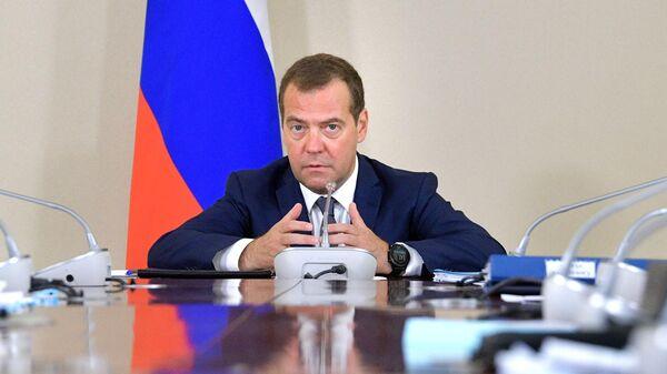 Председатель правительства РФ Дмитрий Медведев проводит совещание по вопросам социально-экономического развития центров экономического роста на Дальнем Востоке. 2 августа 2019