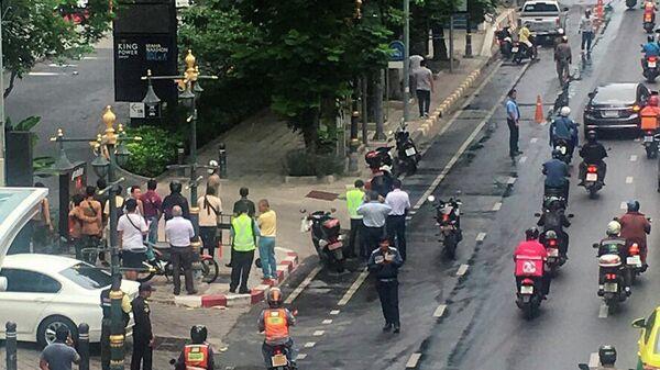 На месте одного из взрывов в Бангкоке, Тайланд. 2 августа 2019