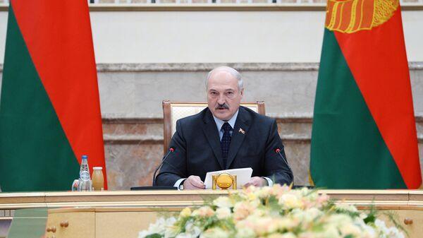 Президент Белоруссии Александр Лукашенко на заседании Мюнхенской конференции по безопасности в Минске. 31 октября 2018