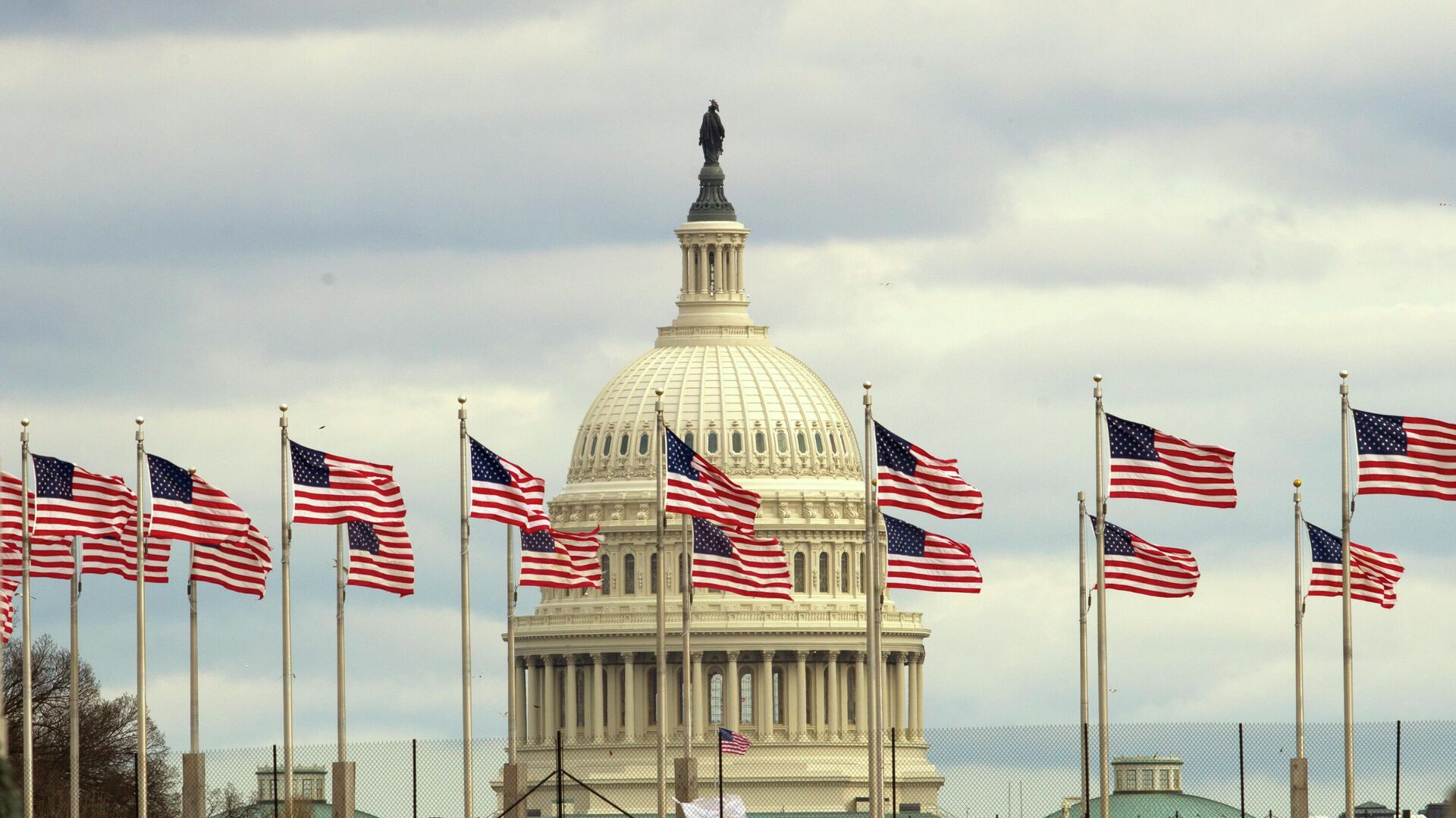 Здание Конгресса США на Капитолийском холме в Вашингтоне - РИА Новости, 1920, 09.12.2020