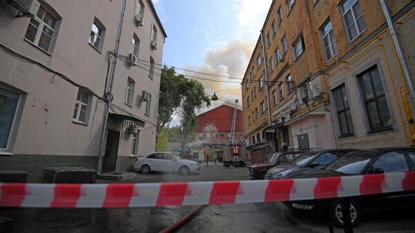 Пожар в промышленном здании в центре Москвы. 3 августа 2019