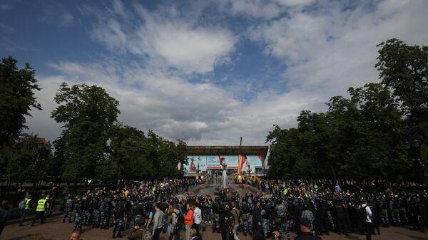 Несанкционированное акция в поддержку незарегистрированных кандидатов в Мосгордуму. 3 августа 2019