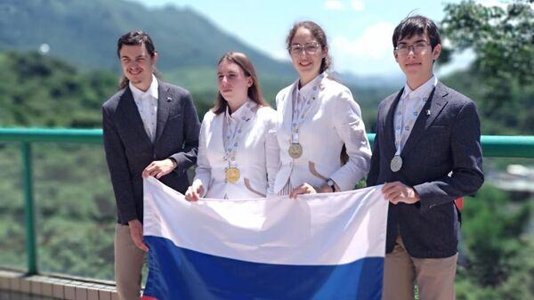 Российская сборная на международной олимпиаде по географии в Гонконге
