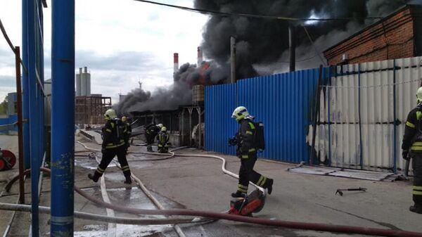 Пожар в строениях в Дзержинском. 7 августа 2019