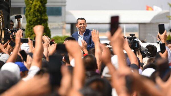 Омурбек Бабанов в Бишкеке. 9 августа 2019