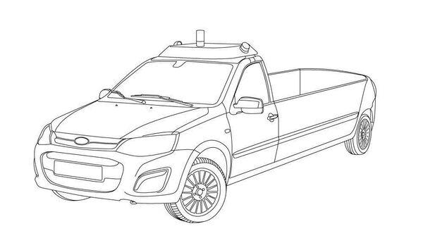 Беспилотный катафалк на базе Lada