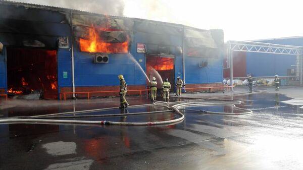 Пожар на складе в Красноярске. 12 августа 2019