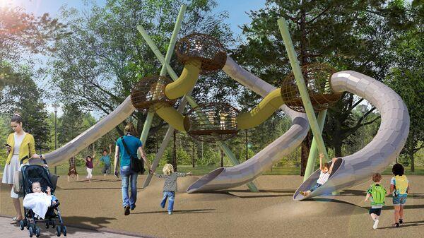 Детская площадка в московском парке Филатов луг