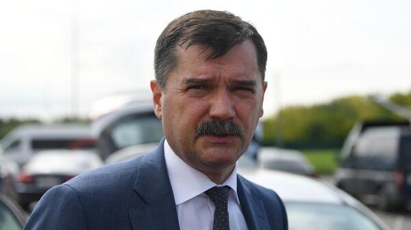 Руководитель Федерального агентства воздушного транспорта Александр Нерадько во время интервью журналистам в аэропорту Жуковский