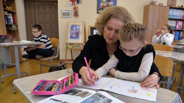 Занятия с детьми в школе