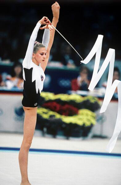 Олимпийская чемпионка по художественной гимнастике Марина Лобач